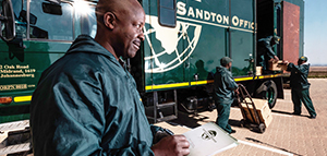 Sandton Office Removals truck